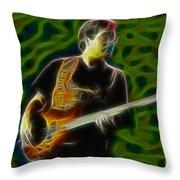Jethro Tull-96-jonathon-c5-fractal Throw Pillow