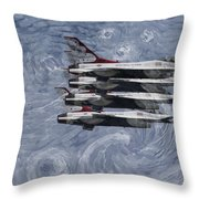 Jetsvangogh Throw Pillow