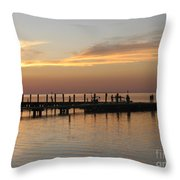 Jetty In The Eveninglight Throw Pillow
