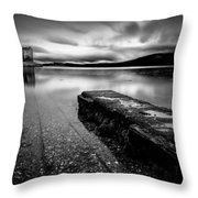 Jetty To Castle Stalker Throw Pillow by Dave Bowman