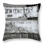 Jew Town In Cochin Throw Pillow