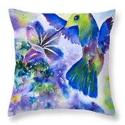 Jewel In Flight Throw Pillow