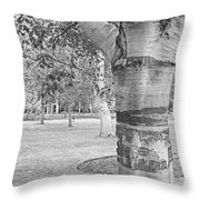 Jewel In The Woods In Black And White Throw Pillow