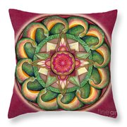 Jewel Of The Heart Mandala Throw Pillow