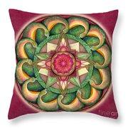 Jewel Of The Heart Mandala Throw Pillow