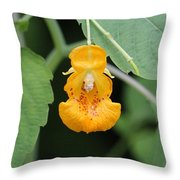 Jewel Weed Blossom Throw Pillow