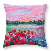 Jeweled Sunset Throw Pillow
