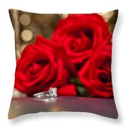 Jewelry And Roses Throw Pillow