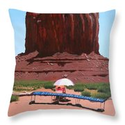 Jewelry Seller Throw Pillow