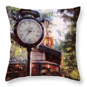 Jewelry Square Clock Milford  Throw Pillow