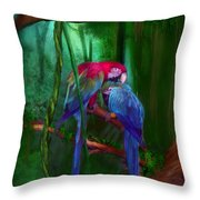 Jewels Of The Jungle Throw Pillow