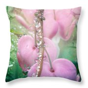 Jewels On Hearts Throw Pillow