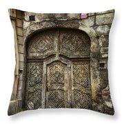 Jewish Quarter Doorway Throw Pillow