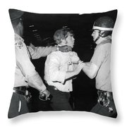 Jews Demonstrate In Ny Throw Pillow
