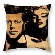 Jfk And Marilyn Throw Pillow