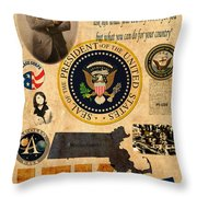 JFK Throw Pillow