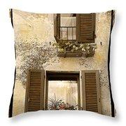 Orvieto Window Polaroid Throw Pillow
