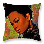 Jill Scott Throw Pillow