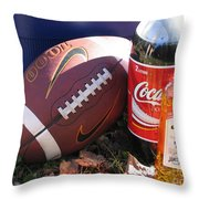 Jim Beam Coke And Football Throw Pillow