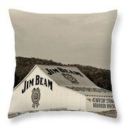 Jim Beam - D008291-bw Throw Pillow