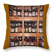 Jim Beam Varieties Throw Pillow