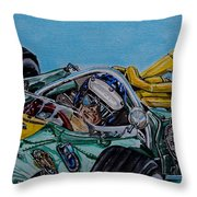 Jim Clark Indy 500 Throw Pillow