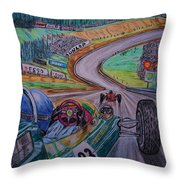 Jim Clark The King Of Spa Throw Pillow