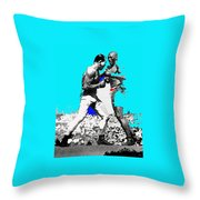 Jim Jeffries Jack Johnson Reno Nevada July 4th 1910-2010  Throw Pillow