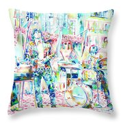 Jim Morrison And The Doors Live Concert In The Street Throw Pillow