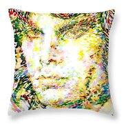 Jim Morrison Watercolor Portrait.2 Throw Pillow