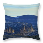 Jim Mountain Lava Field   #9037 Throw Pillow