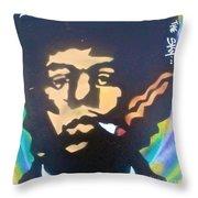 Jimi Smoking Throw Pillow