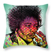 Jimmie Hendrix  Throw Pillow