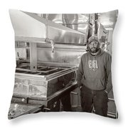 Jimmy At Mt Cube Sugar Farm Throw Pillow by Edward Fielding