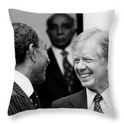 Jimmy Carter And Anwar Sadat 1980 Throw Pillow