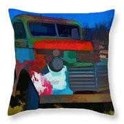 Jimmy In Taos - Abstract Throw Pillow