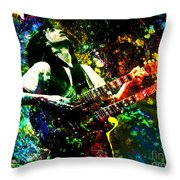 Jimmy Page - Led Zeppelin - Original Painting Print Throw Pillow