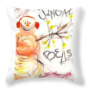 Jingle Bells Throw Pillow