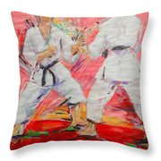 Jiyu Kumite Throw Pillow