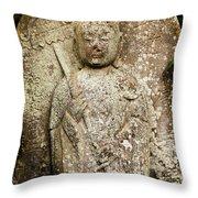 Jizo Bodhisattva Throw Pillow