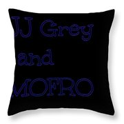 Jj Grey And Mofro In Blue Neon Throw Pillow