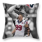 Jj Watt Texans Throw Pillow