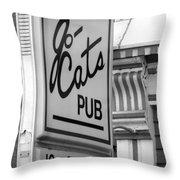 Jo Cats Pub Throw Pillow