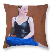 Jo In Chair Throw Pillow