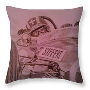 Jo Siffert And His Brabham Bt11 Throw Pillow
