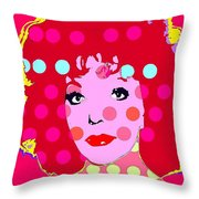 Joan Collins Throw Pillow by Ricky Sencion