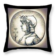 Joan Of Arc - Original Throw Pillow