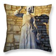Joan Of Arc Hearing Voices By Francois Rude Throw Pillow