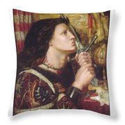 Joan Of Arc Kisses The Sword Of Liberation Throw Pillow