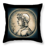 Joan Of Arc - Middle Ages Throw Pillow